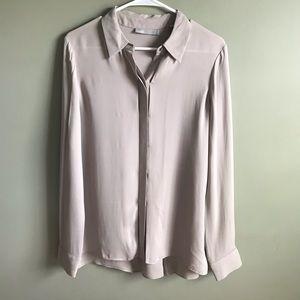 Vince silk button front blouse